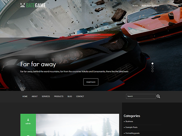 BateGame Free WordPress Theme