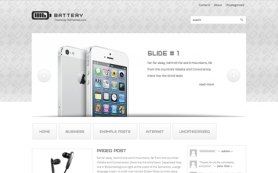Battery Free WordPress Theme