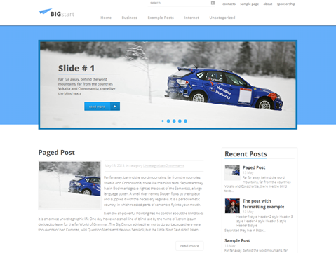 BigStart Free WordPress Theme