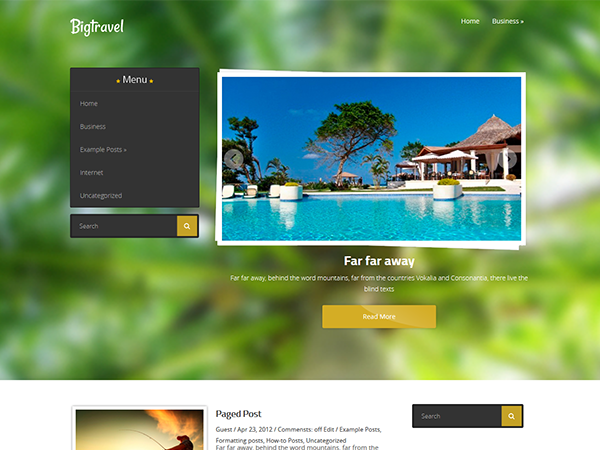 BigTravel Free WordPress Theme