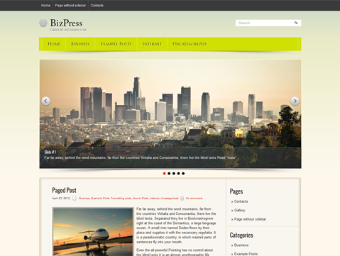 BizPress Free WordPress Theme