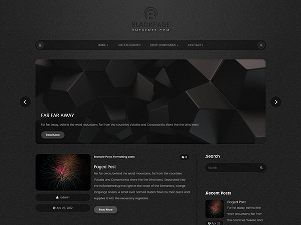 BlackPage Free WordPress Theme