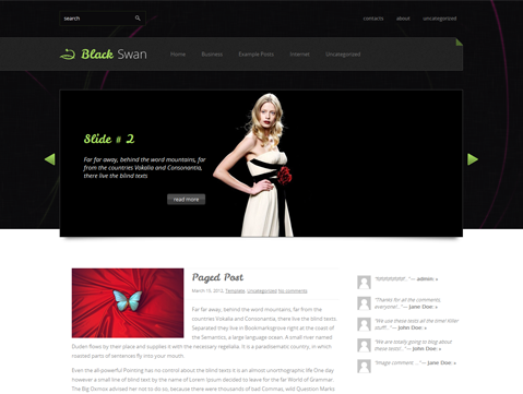 BlackSwan Free WordPress Theme
