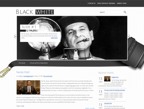 BlackWhite WordPress Theme