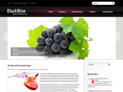 BlackWine WordPress Theme