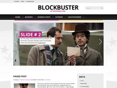 Blockbuster Free WordPress Theme