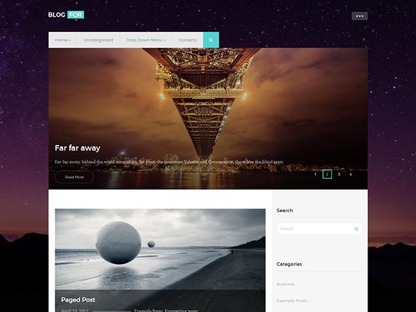 BlogFor WordPress Theme