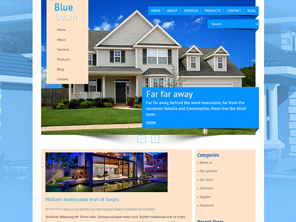 BlueDream Free WordPress Theme