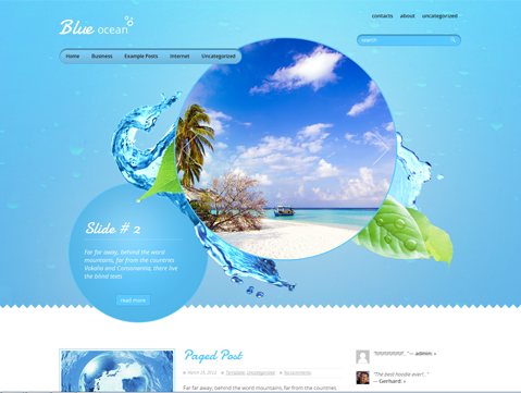 BlueOcean WordPress Theme
