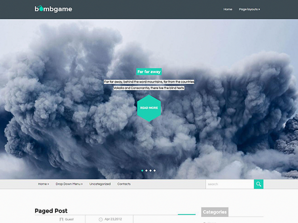 BombGame Free WordPress Theme