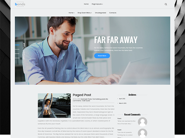 Bonds Free WordPress Theme