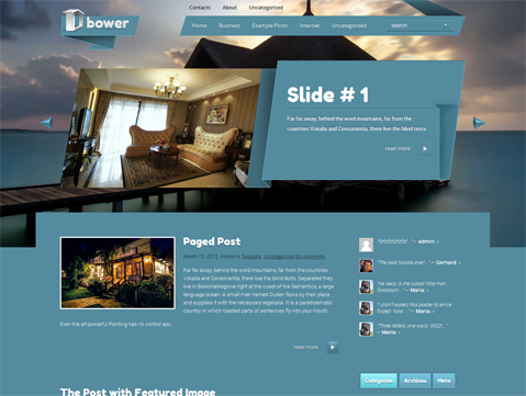 Bower WordPress Theme