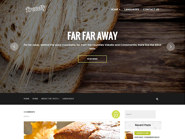Breadly Free WordPress Theme
