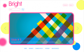 Bright Free WordPress Theme