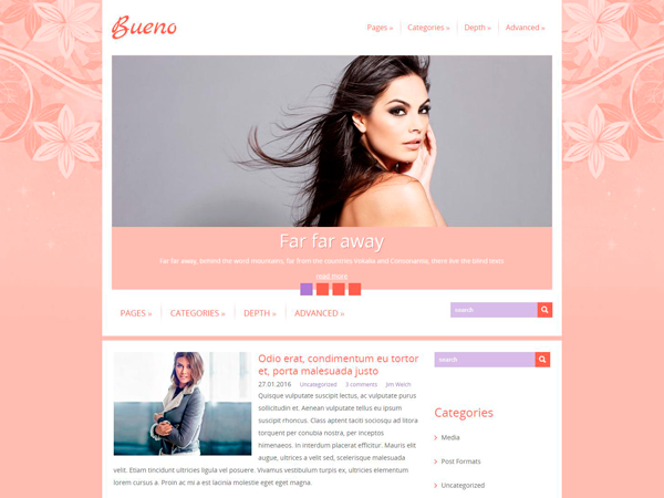 Bueno Free WordPress Theme