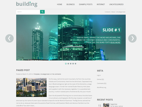 Building WordPress Theme