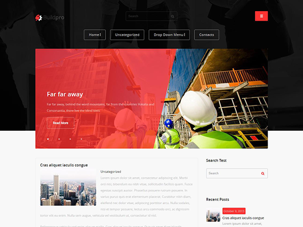 BuildPro Free WordPress Theme