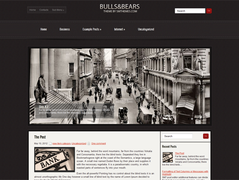 BullsAndBears WordPress Theme