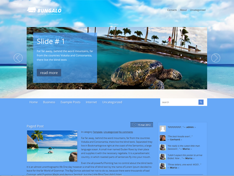 Bungalo WordPress Theme