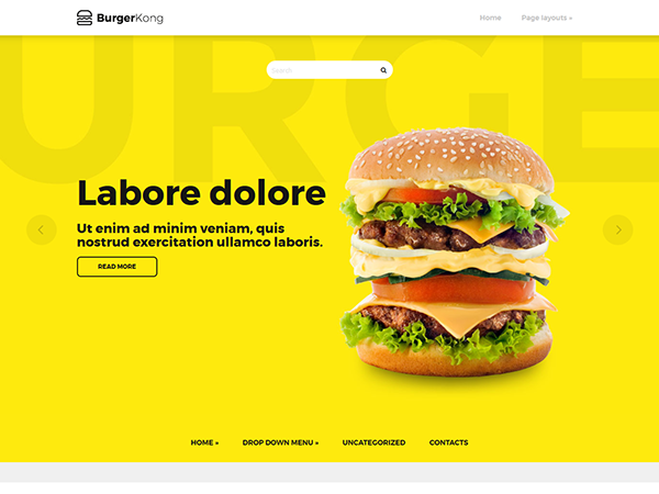 BurgerKong Free WordPress Theme