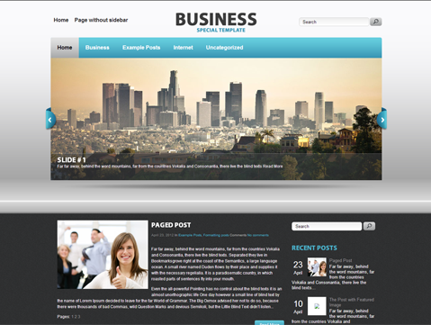 Business free wordpress theme flashek Images