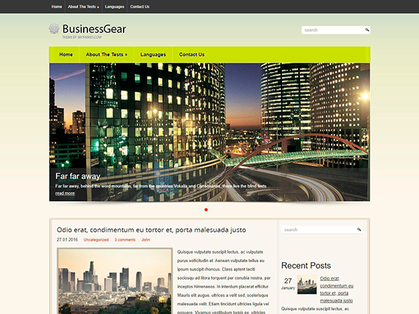 BusinessGear Free WordPress Theme