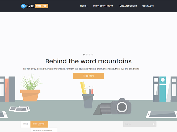 ByteCount Free WordPress Theme