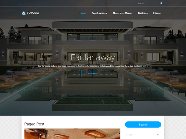Cabana Free WordPress Theme