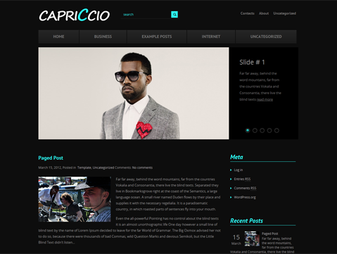 Capriccio Free WordPress Theme