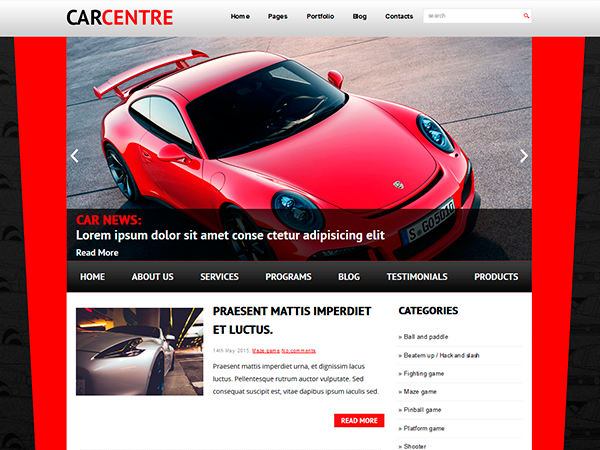 CarCentre Free WordPress Theme