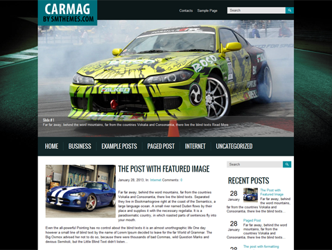 Carmag Free WordPress Theme