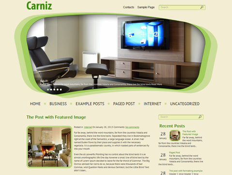Carniz Free WordPress Theme