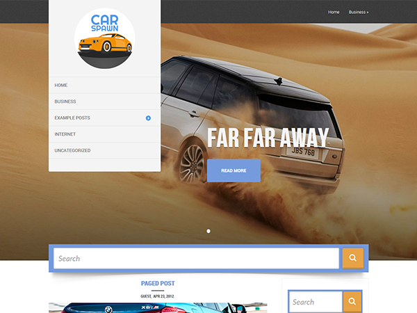 CarSpawn Free WordPress Theme