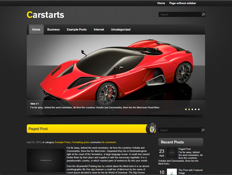 CarStarts Free WordPress Theme