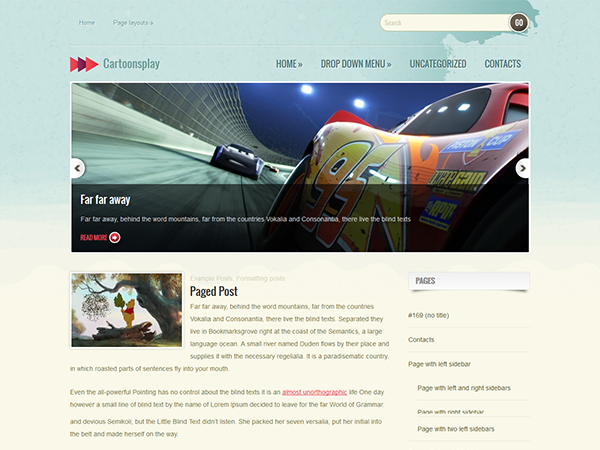 CartoonsPlay WordPress Theme