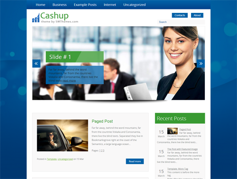 Cashup Free WordPress Theme
