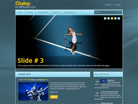 Chalep Free WordPress Theme