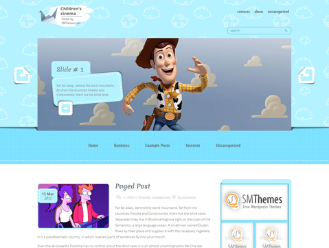 ChildrenCinema Free WordPress Theme