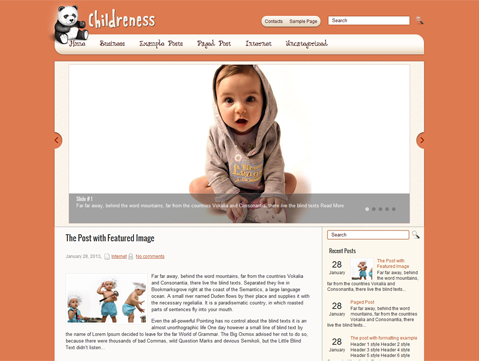Children Free WordPress Theme