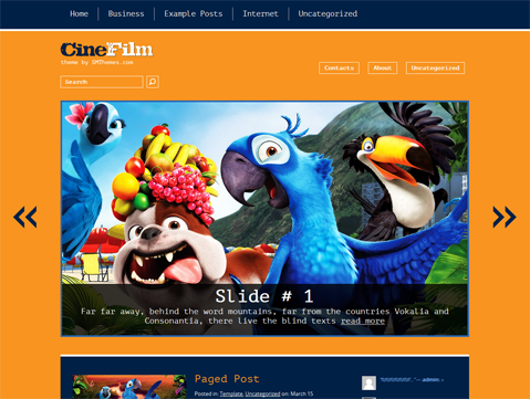 CineFilm Free WordPress Theme