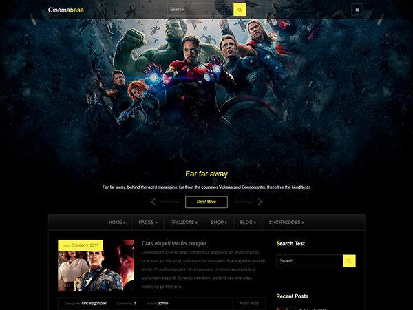 CinemaBase WordPress Theme