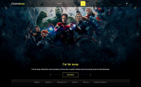 CinemaBase Free WordPress Theme