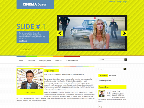 CinemaBazar Free WordPress Theme