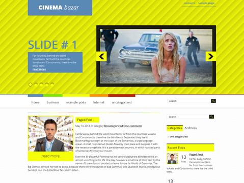 CinemaBazar Free WordPress Theme