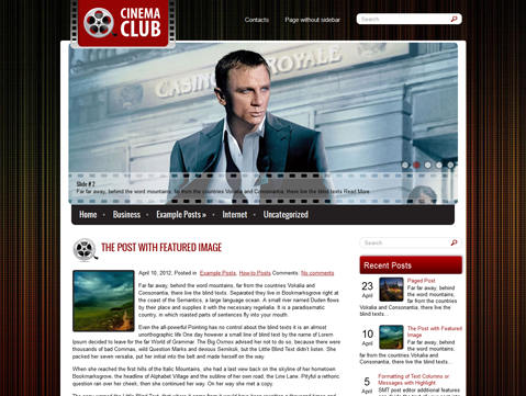 CinemaClub WordPress Theme