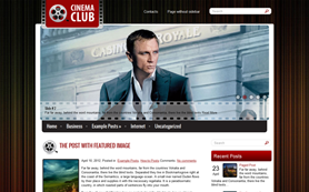 CinemaClub Free WordPress Theme