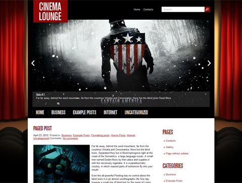 CinemaLounge WordPress Theme