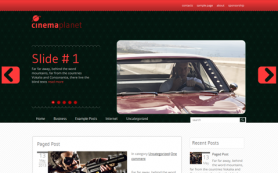 CinemaPlanet Free WordPress Theme