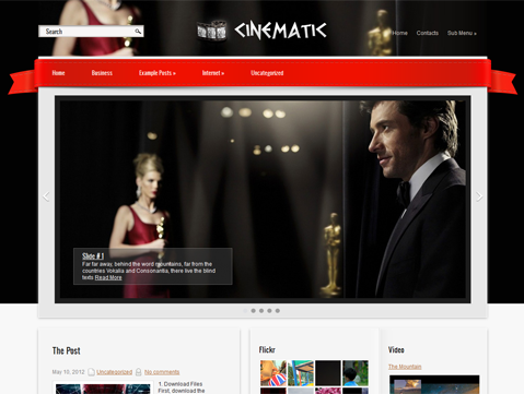 Cinematic Free WordPress Theme
