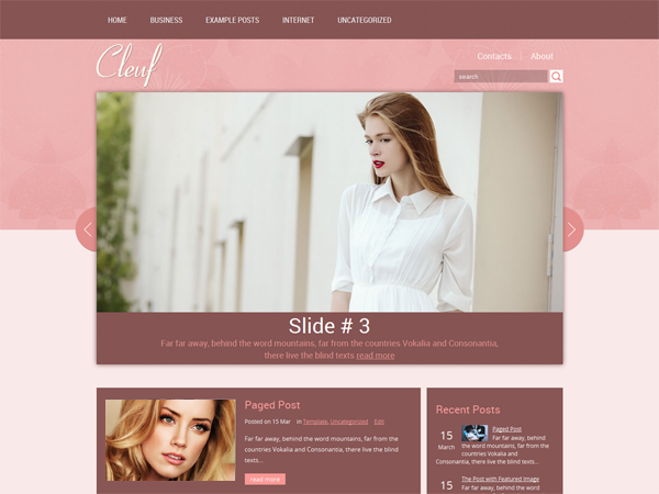 Cleuf Free WordPress Theme